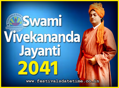 2041 Swami Vivekananda Jayanti Date & Time, 2041 National Youth Day Calendar