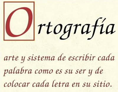 Cartel con mensaje. Ortografía, arte y sistema de escribir cada palabra como es su ser y de colocar cada letra en su sitio