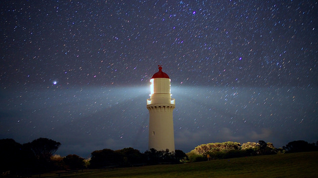 none: Starry Lighthouse Nights