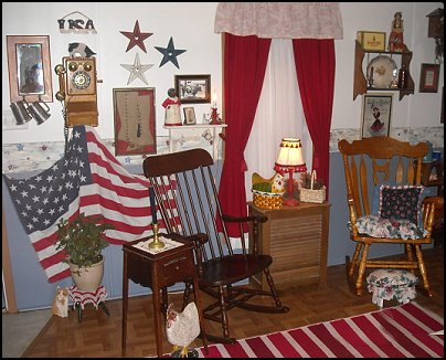 Country Style Primitive Americana Theme Decorating