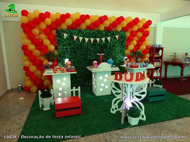 Decoração mesa de festa de aniversário Turma da Mônica - Provençal simples