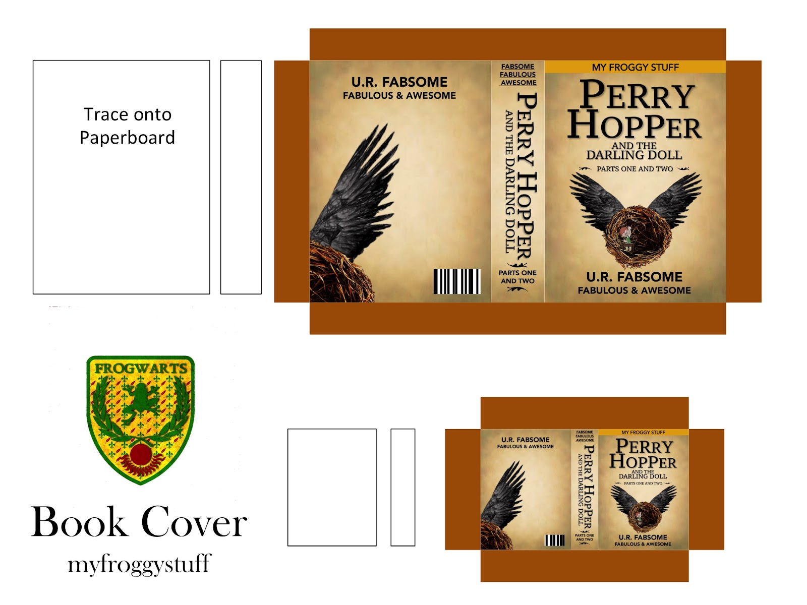 or click the pic below    It will open in a black screen and you can click  and drag the image to your desktop. My Froggy Stuff  How to Make a Miniature Harry Potter Book for