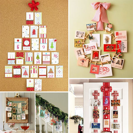 Neo arquitecturaymas ideas para navidad decorar con tarjetas for Decoracion de adornos navidenos