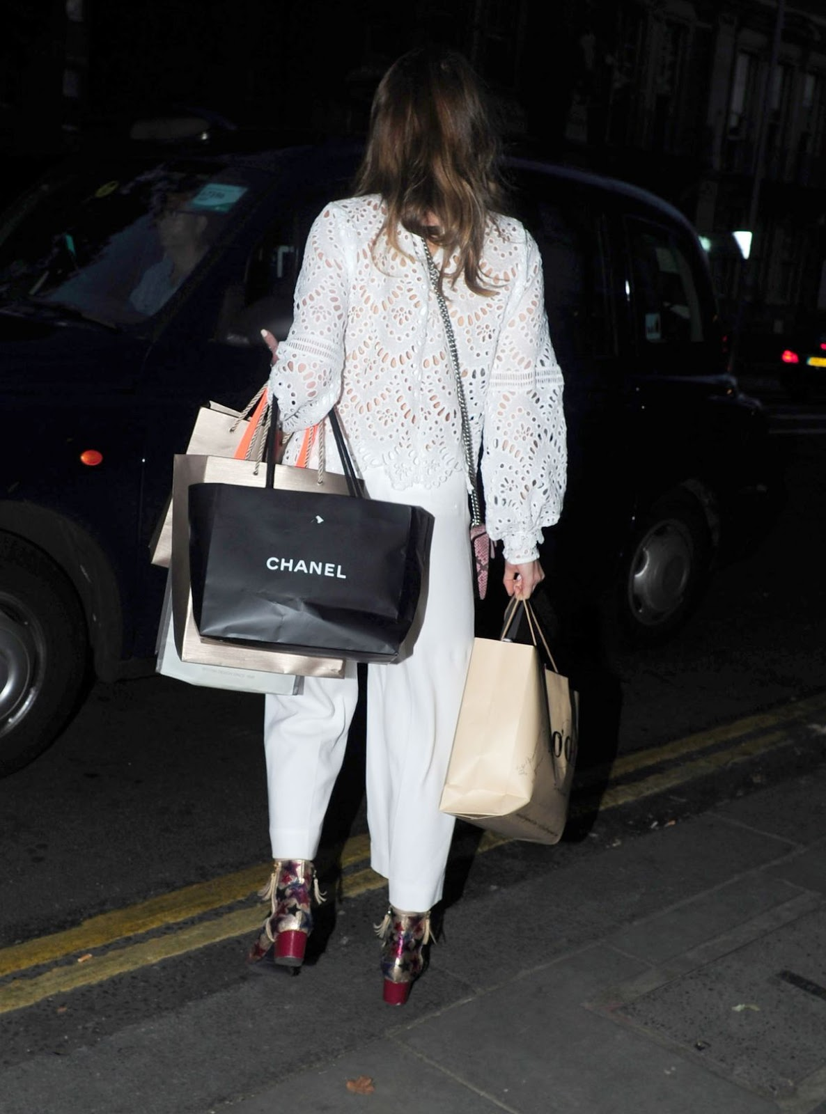 Rosie Fortescue at IVY Garden in Chelsea