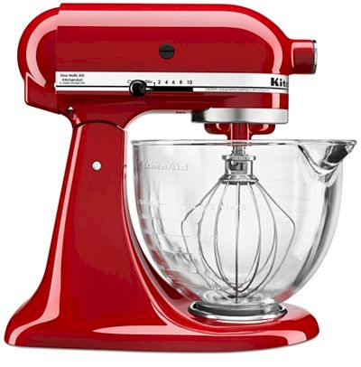 Early Macy S Black Friday Deal Kitchenaid 5 Quart Stand Mixer With Glass Bowl For 179 99 Shipped At 3 Colors Available