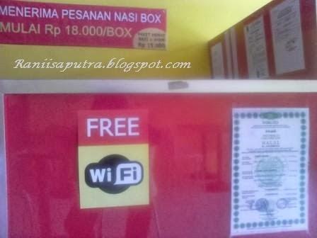 Free wifi dan dijamin halal