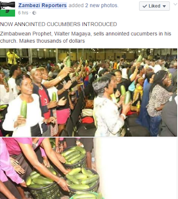 Anointed Cucumbers been sold to Church Members during Service