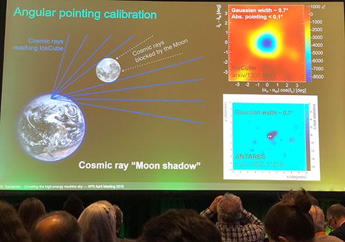 Using the moon for angular calibration of sources on the sky (Source: Marcos Santander, U of Alabama, at APS April Meeting in Denver)