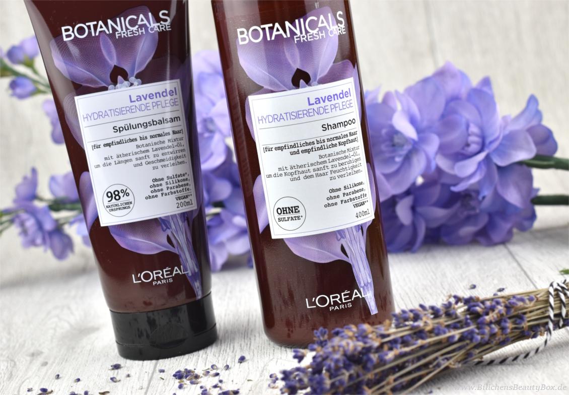 Review und Erfahrungsbericht zur L'Oréal Botanicals Lavendel Haarpflege inkl. Shampoo, Spülung, Maske und Kopfhaut Pflege-Lotion
