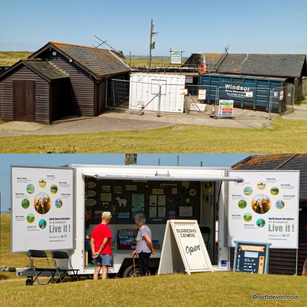 Northam Burrows Visitors Centre & temporary display area and information point. Photo copyright Pat Adams