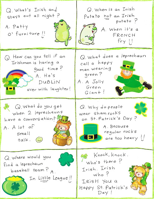 St Patrick's Day 2018 Jokes and one liners