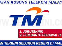 JAWATAN KOSONG 2017 TELEKOM MALAYSIA BERHAD (TM) - AMBILAN DI SELURUH NEGERI