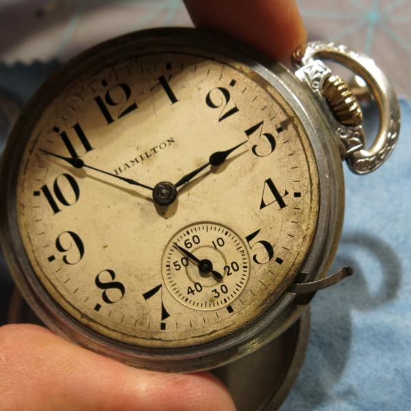 980ccd2f07a0b Vintage Hamilton Watch Restoration: 1902 925 Pocket Watch