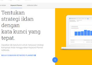 Cara riset kata kunci dengan Google Keyword Planner
