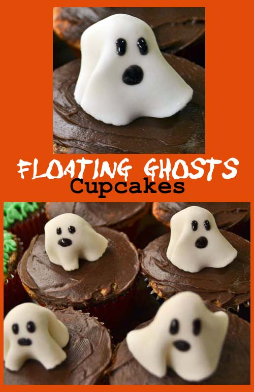 floating ghost cupcakes for halloween