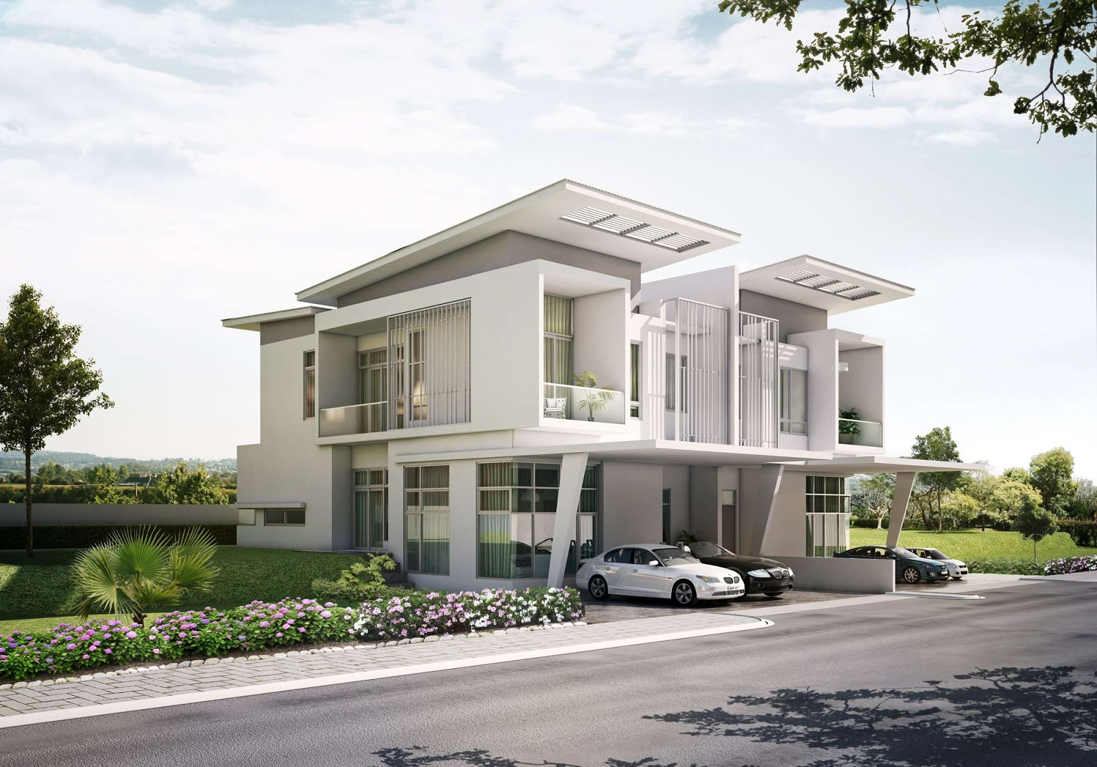 Singapore Modern Homes Exterior Designs on Dubai 3 Bedroom Townhouse Floor Plans
