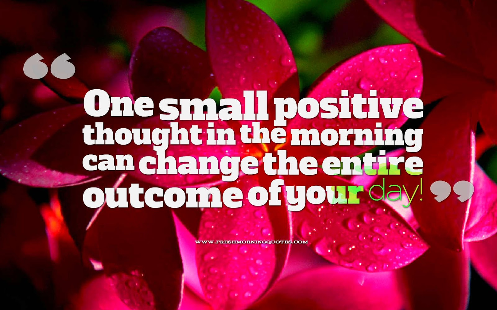 one small positive thought positive morning quotes