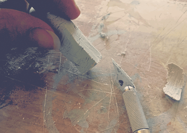 DIY Clay Healing Stone Crystal Pendant