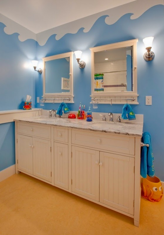 decorar baño para niño