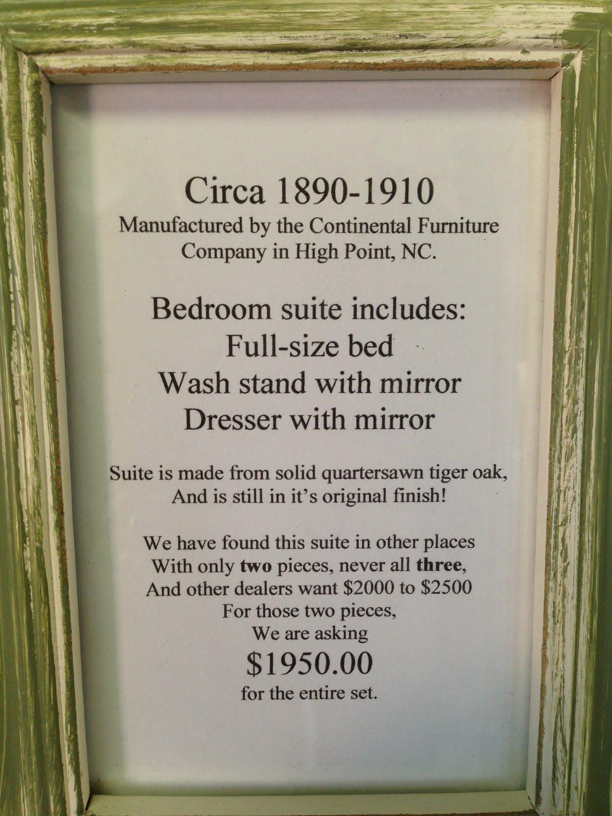 Continental Furniture Quot Tiger Oak Quot Lodestone Art Amp Antiques
