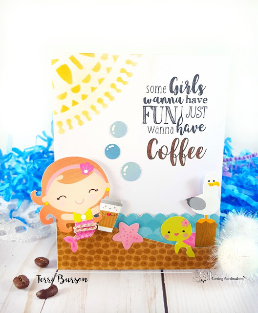 Mermaids and Coffee for Coffee Loving Cardmakers