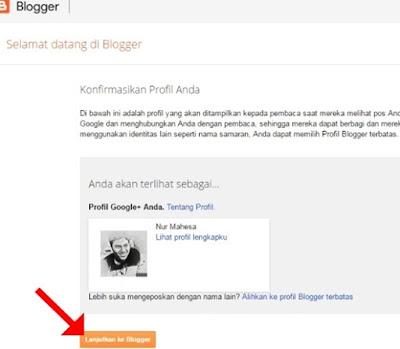 Lanjutkan ke Blogger