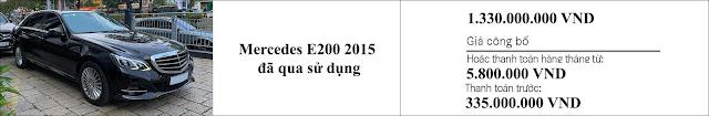 Giá xe Mercedes E200 2015 hấp dẫn bất ngờ