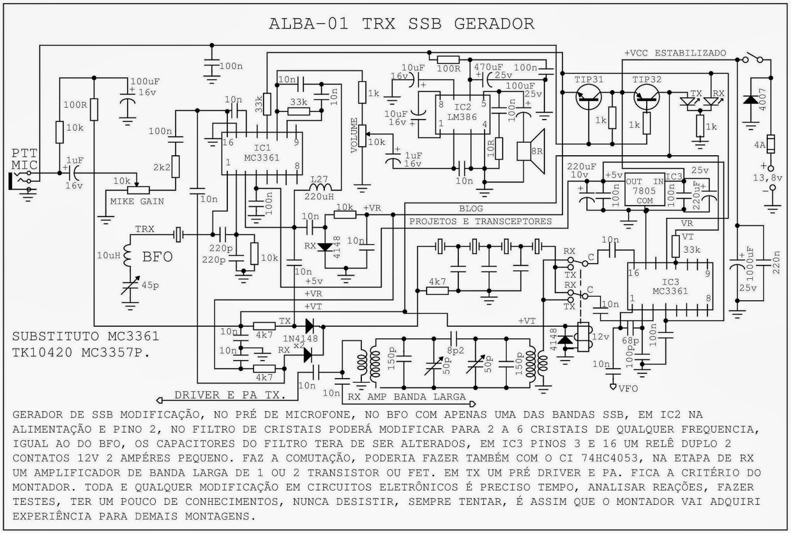 Projetos E Transceptores Esquema Transceptor Alba 01 Ssb