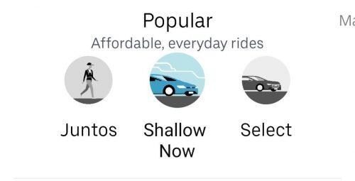 uber juntos e shallow now