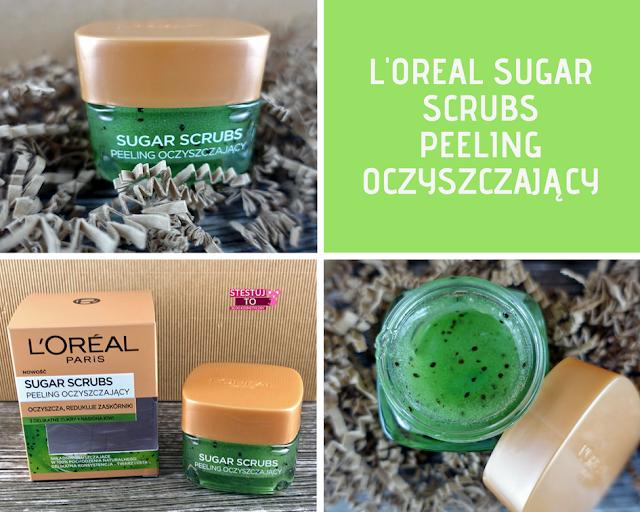 loreal sugar scrubs peelingi do twarzy peeling oczyszczajacy