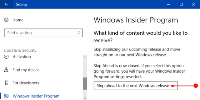 How to Skip Ahead to the Next Windows Insider Release in Windows 10
