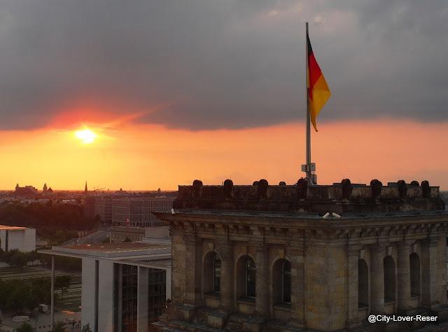 Berlin - utsikt från Riksdagskupolen