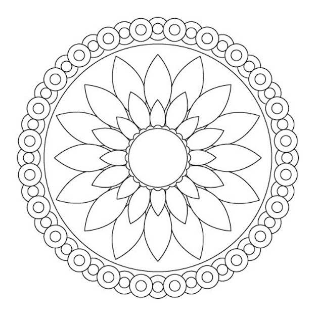 Mandala Coloring Pages For Kids Mandala Pictures Simple Mandala Coloring  Pages Printable