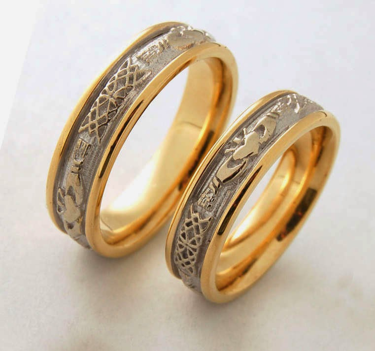 celtic wedding rings his and hers
