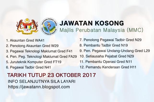 Jawatan kosong terkini di Majlis Perubatan Malaysia (MMC)