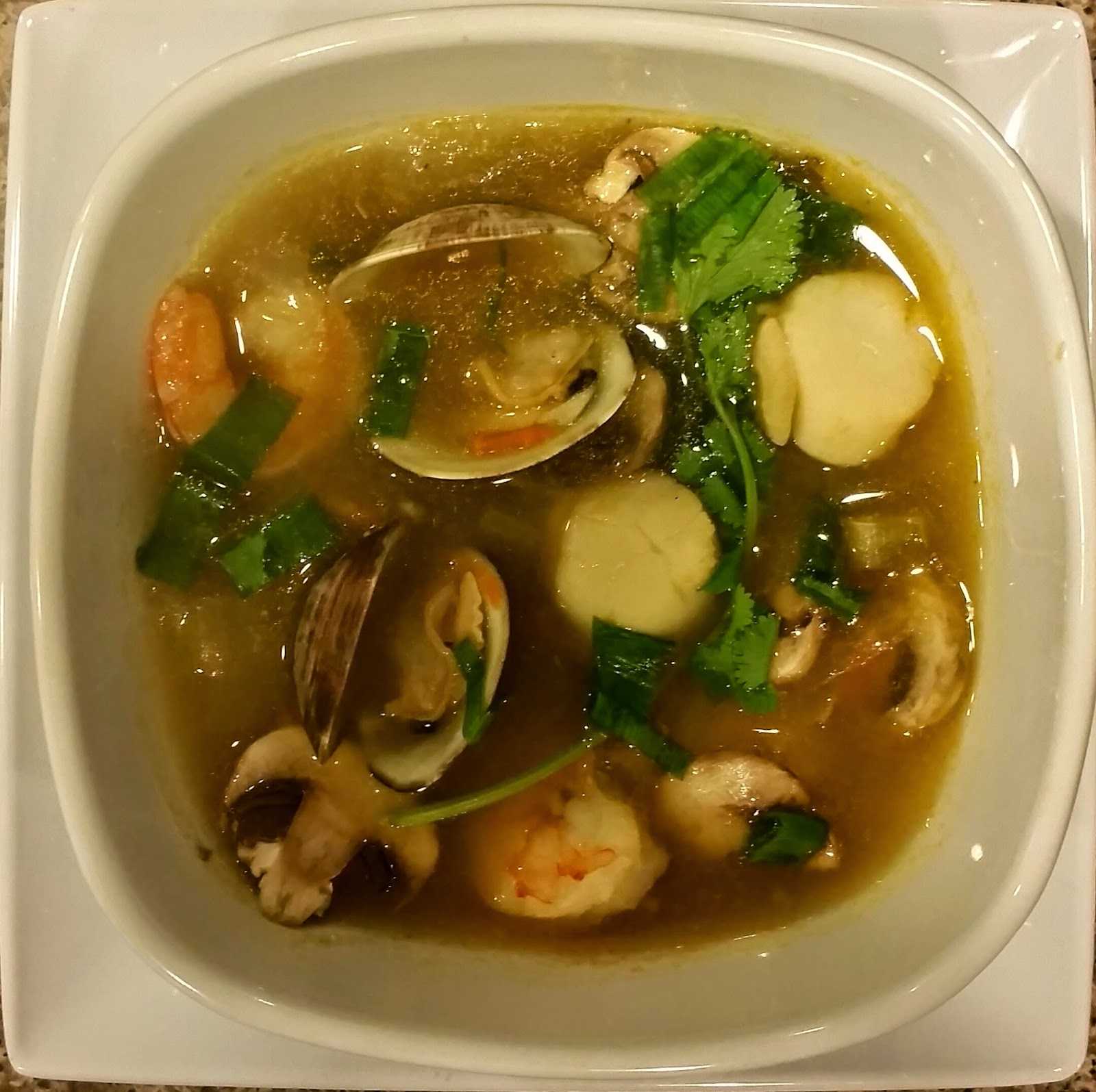 Ginger Lemongrass Seafood Soup