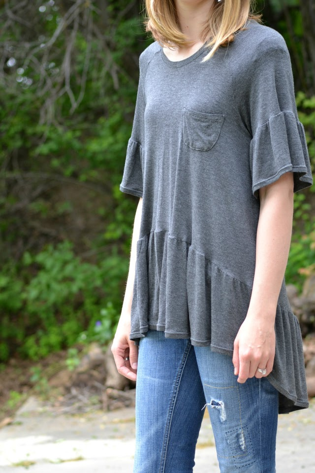 Me Made: Waterfall Raglan with Bell Sleeves