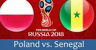 انتهت مباراه بولندا والسنغال اليوم 19-6-2018 بنتيجه 2 - 1 لصالح السنغال