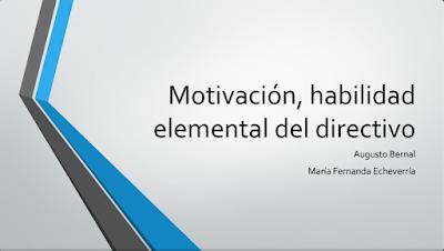 Motivación, trabajo en equipo