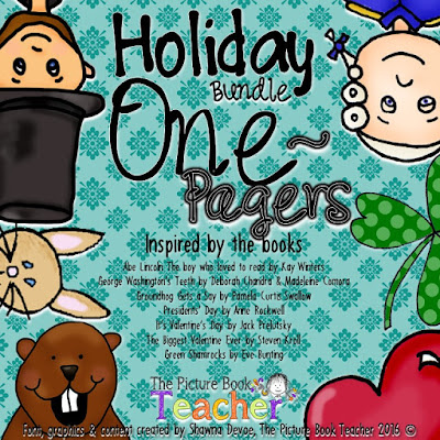 Holiday Bundle of One Pager actvities from a variety of holiday picture books.