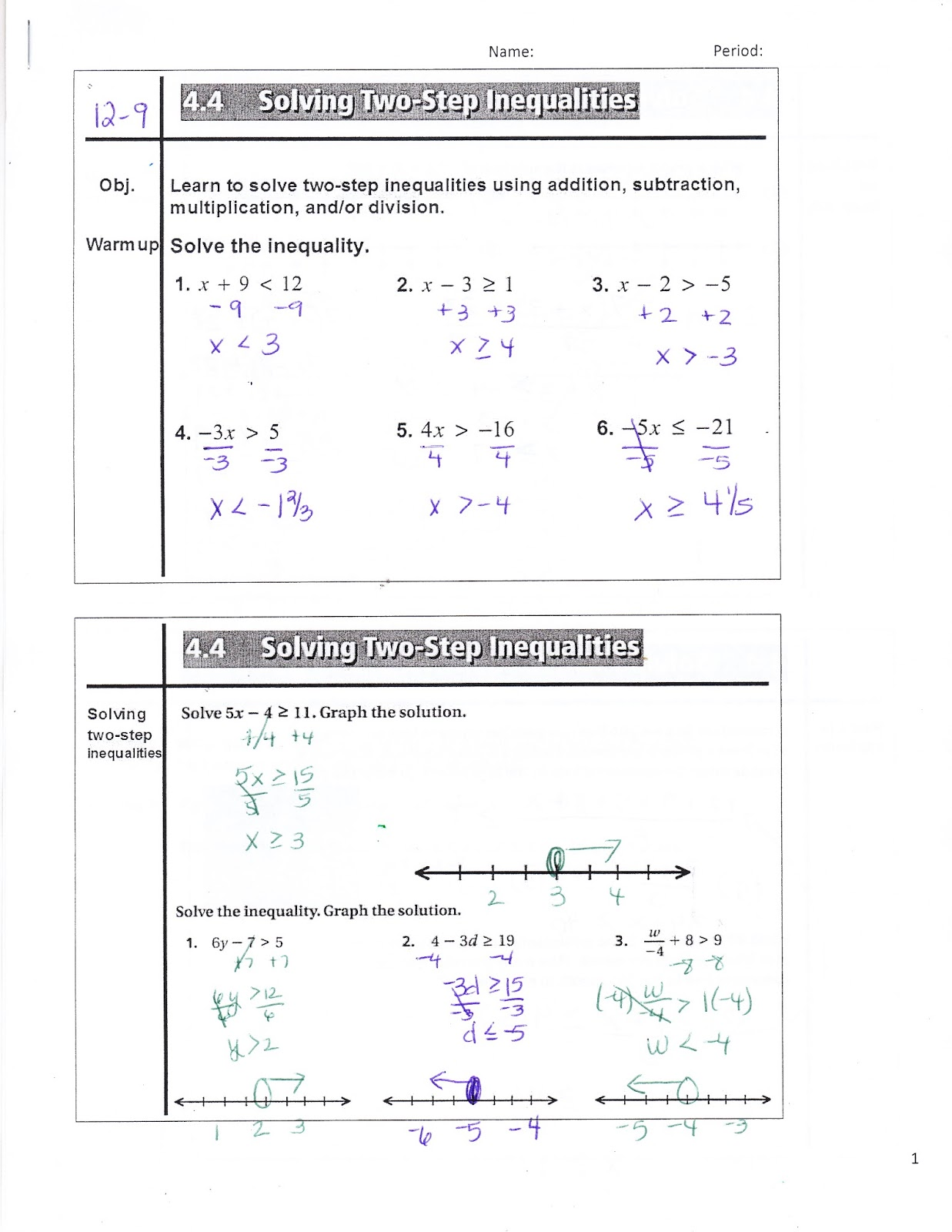 Ms Jean S Classroom Blog 4 4 Solving Two Step Inequalities