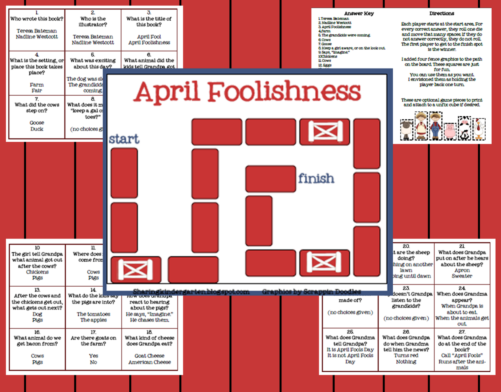 Classroom Freebies Too Math Word Problem Game
