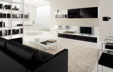 sala muebles de cuero - Sofas Negros