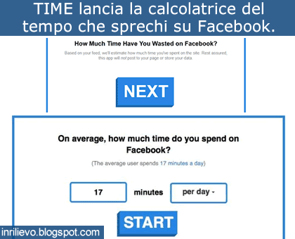 contatore tempo facebook
