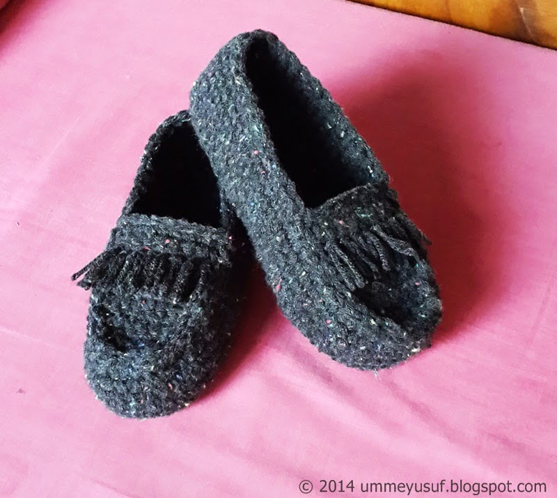 Umme Yusuf A Blast From The Past Crocheted Moccasin