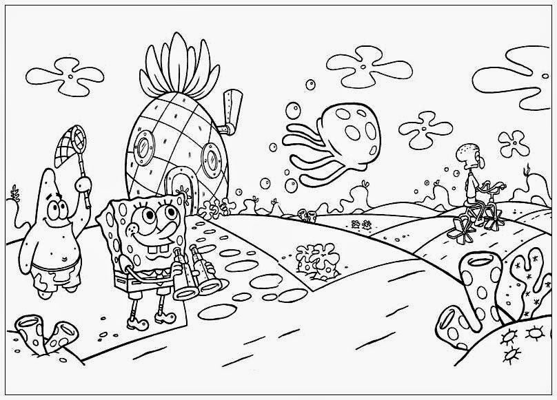 Kids Under 7: SpongeBob SquarePants Coloring Pages