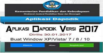 Download Aplikasi Dapodik Versi 2017