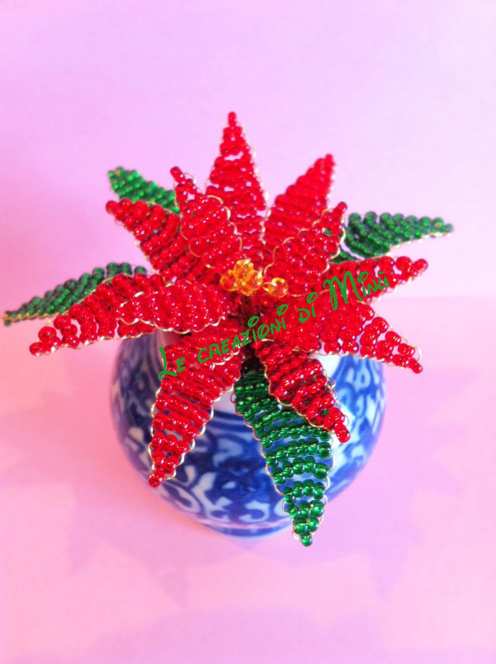 Stella Di Natale Con Perline.Manolita Creations