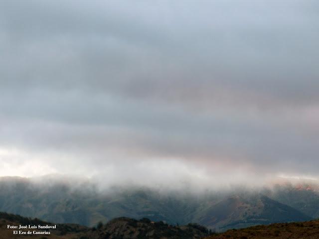 Si nieva en la cumbre de Gran canaria el Cabildo prohíbe subir, 18 - 19 febrero