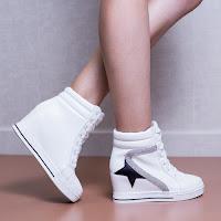 Sneakers dama Hanne albi • modlet